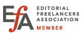 Editorial Freelancers Association logo and member badge